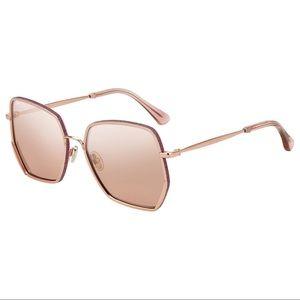 Jimmy Choo ALINE/S Pink Flash Silver Sunglasses